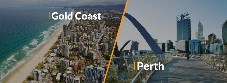Perth y Gold Coast, nuevos destinos que te llevarán más cerca de la Residencia Permanente